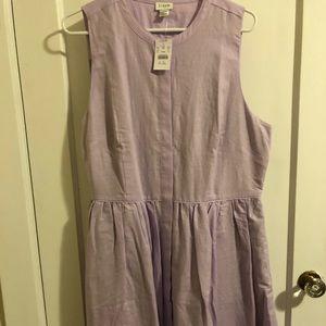 J.Crew linen shirt dress